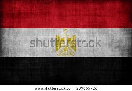 Egypt flag pattern,retro vintage style - stock photo