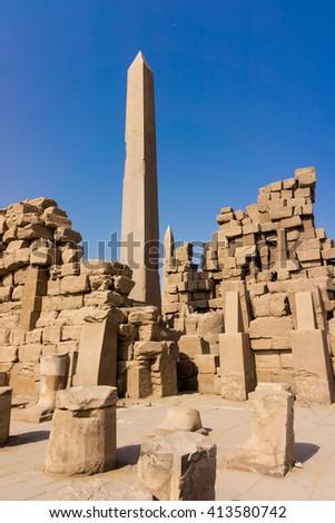 Egypt, Luxor  obelisk - stock photo