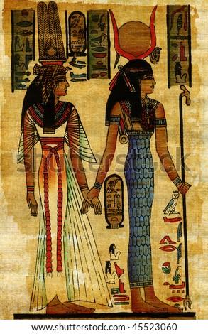 Egypt papyrus - stock photo