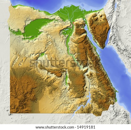 Egypt Map Stock Images RoyaltyFree Images Vectors Shutterstock - Map of egypt elevation
