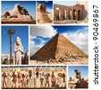 Egypt, sphinx and pyramids collection. - stock photo
