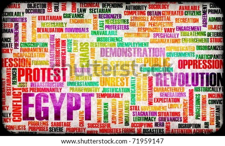 Egypt Uprising Protest and Riot as Concept - stock photo