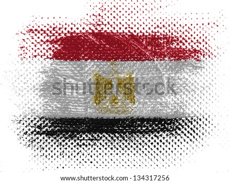 Egyptian flag on dotted surface - stock photo