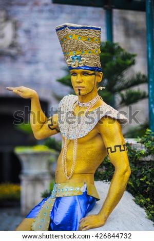 Egyptian style - Pharaoh - stock photo