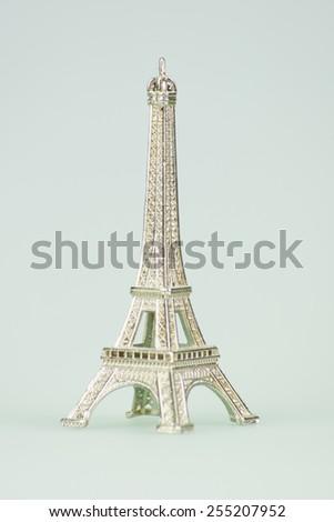 Eifel Tower Stature Toy - stock photo