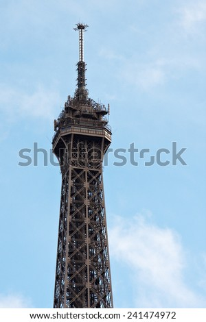 Eiffel Tower at Paris from the ground - stock photo