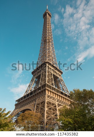 Eiffel Tower in Paris France - stock photo