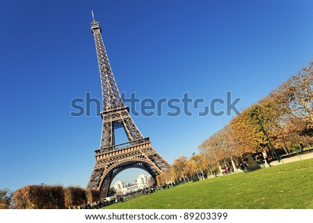 Eiffel tower in Paris with gorgeous colors