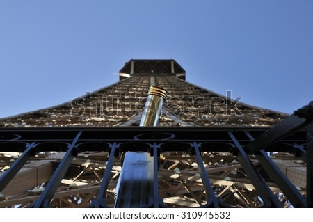 Eiffel tower is a one of the most recognizable structures in the world - stock photo