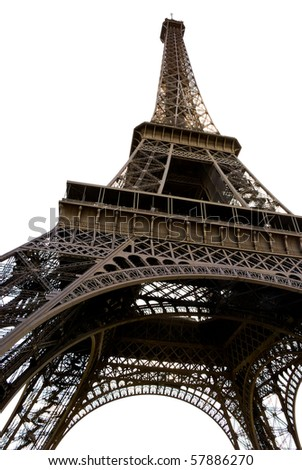 Eiffel Tower isolated on a white background