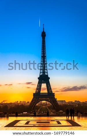Eiffel Tower, Paris. - stock photo