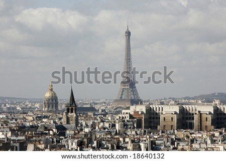 Eiffel tower Paris - stock photo