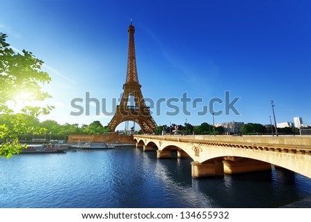 Eiffel tower, Paris. France - stock photo