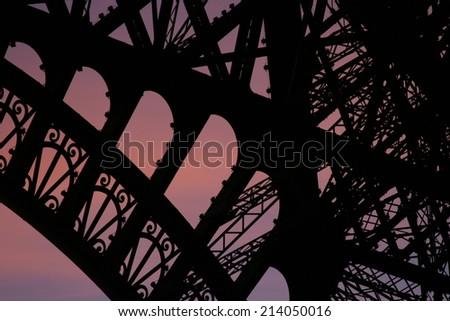 Eiffel Tower Paris France - stock photo