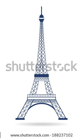 Eiffel Tower Paris. Icon design