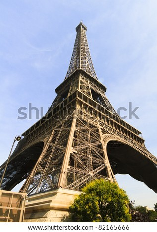 Eiffel Tower profile in Paris, France