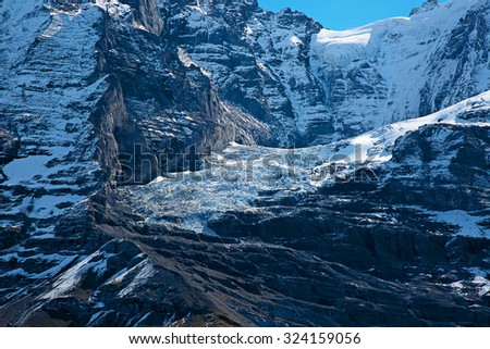 Eiger mountain in the Jungfrau region - stock photo