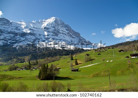 Eiger mountain in the Swiss Alps