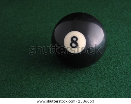 Eight Ball - stock photo