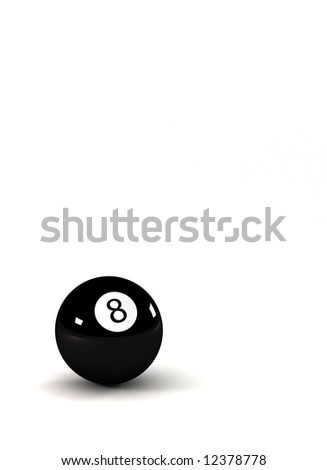 Eight ball - symbol for success - closeup on eightball with light reflections - stock photo