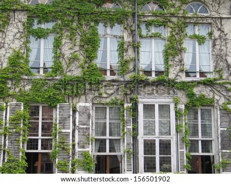 Eight old windows in Bruges,  Belgium - stock photo
