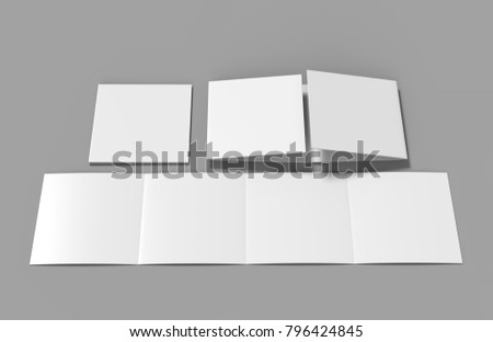 Eight Page Double Gate Fold Brochure Stock Illustration - Double gate fold brochure template