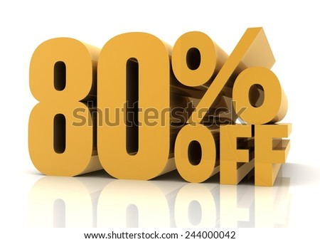 eighty percent off sale