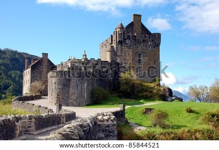 Eilean Donan Castle, Highlands, Scotland - stock photo