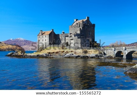 Eilean Donan castle in Scotland - stock photo