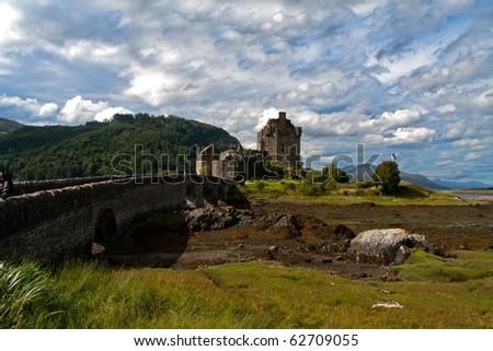 Eilean Donan castle in Scotland - stock photo