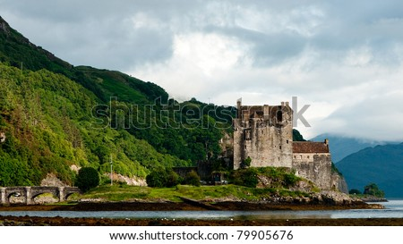 Eilean Donan castle, one of the most popular monuments in Scotland, Great Britain - stock photo