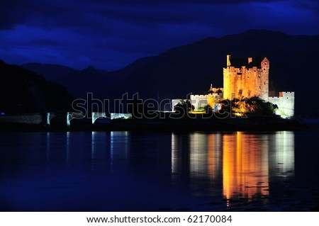 Eilean Donan Castle Scotland - stock photo