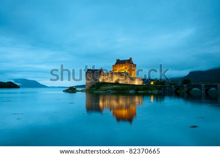 Eilean Donan Castle, Scotland. - stock photo