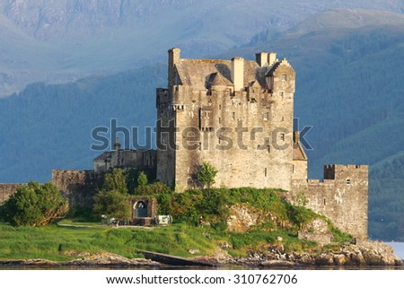 eilean donan castle scotland united kingdom - stock photo