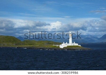 Eilean Musdile is an islet, and lighthouse to the south west of Lismore in the Inner Hebrides.