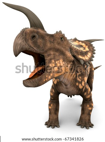 einiosaurus big roaring close up
