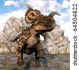 einiosaurus running alone - stock photo