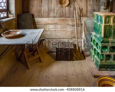 EISENACH, GERMANY - SEP 22: The Luther Room of the Wartburg in Germany on September 22, 2013. The Wartburg is situated on a 410 meters (1,350 ft) precipice to the southwest of the town of Eisenach.