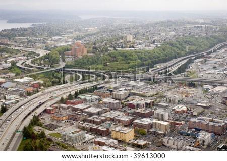 Eisenhower interstate highway system - stock photo
