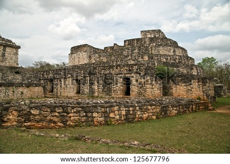 Ek Balam in the yucatan is a recently discovered Maya city lost in the jungle archaeological sites.