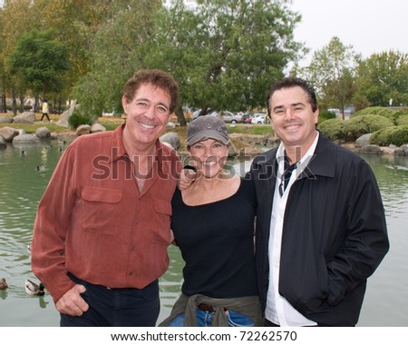 EL CAJON, CA - NOVEMBER 23: Barry Williams (left), Erin Moran (center) and Christopher Knight (right) attend the 62nd Annual Mother Goose Parade on November 23, 2008 in El Cajon, CA.
