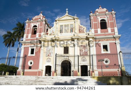 El Calvario Church Leon Nicaragua Central America - stock photo