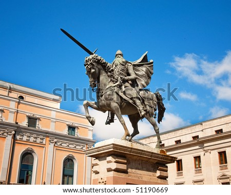 El Cid in Burgos - stock photo