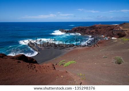 El Golfo, Lanzarote, Canary Islands, Spain - stock photo