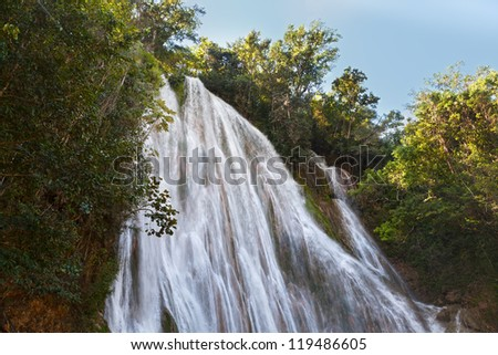 el limon waterfall, Samana peninsula, Dominican republic