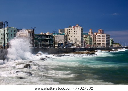 El Malecon, Havana/Cuba - stock photo