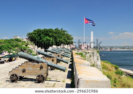 El morro cabana fort in Havana, Cuba - stock photo