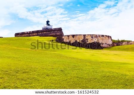 El Morro Castle in San Juan, Puerto Rico - stock photo