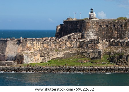 El Morro Castle in San Juan, Puerto Rico - stock photo