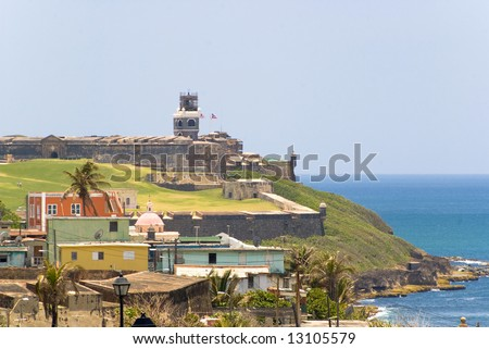 el morro fort in san juan de puerto rico - stock photo
